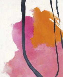Dipinto astratto arancio e rosa