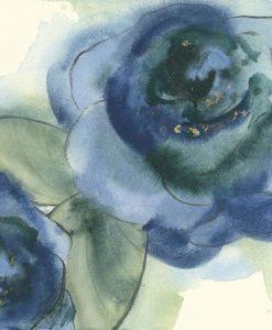 Acquerello di un fiori blu sfumato