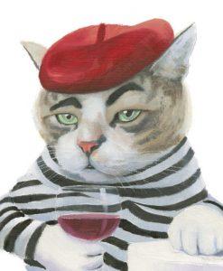 Ritratto di un gatto in stile francese