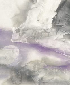 Dipinto con sfumature bianco, grigio e viola