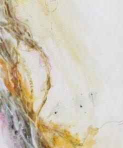 Dipinto con schizzi di pittura variopinti