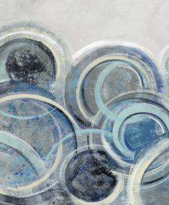 Dipinto con cerchi blu sovrapposti