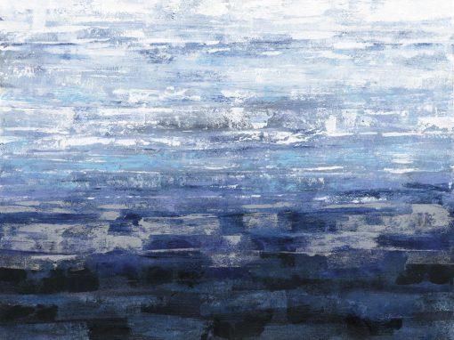 Dipinto con sfumature blu orizzontali