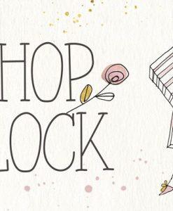 Illustrazione di una donna che va a fare shopping con messaggio