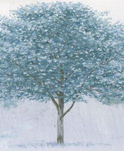 Dipinto di alberi dalla chioma blu