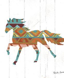 Silhouette di un cavallo con motivo etnico americano