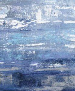 Dipinto astratto con effetto texture dai toni blu