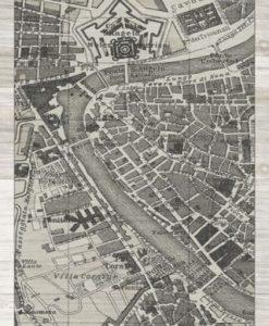 Cartina di Roma in bianco e nero