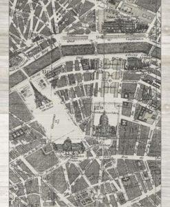 Cartina di Parigi in bianco e nero