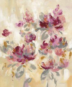 Composizione sfumata e astratti di fiori