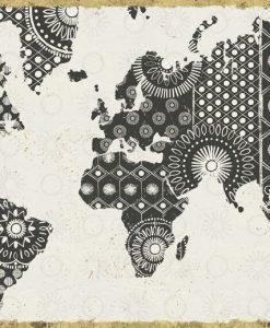 Planisfero in stile etnico