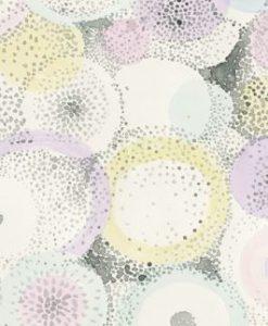 Dipinto con cerchi sovrapposti ad effetto puntinismo