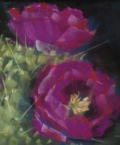 Dipinto di fiori di cactus viola