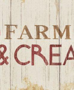 Cartello di indicazioni per una fattoria in legno