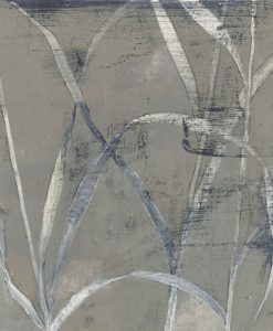 Gambi di fiori dipinti con sfumature di grigio