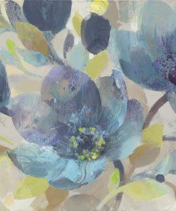 Composizione con fiori blu e azzurri