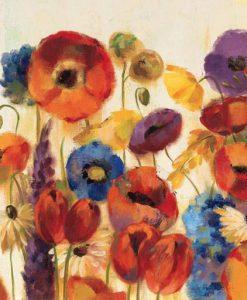 Dipinto con fiori di campo di vari colori