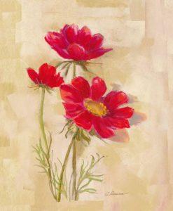Dipinto di un fiorellino rosso