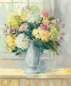 Mazzo di ortensie in vaso