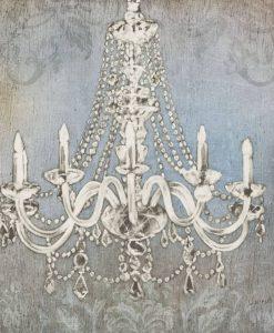 Dipinto di un antico e lussuoso lampadario con candele