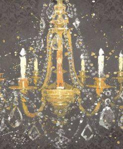 Dipinto di un antico lampadario con candele