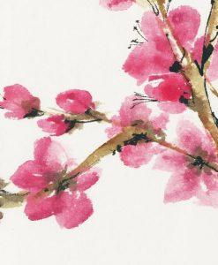 Rami di albero di prugno fioriti