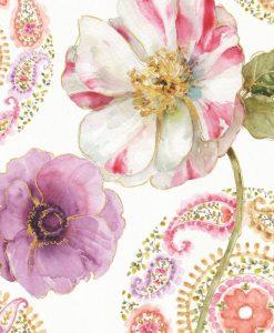 Dettaglio di fiori e motivi decorativi