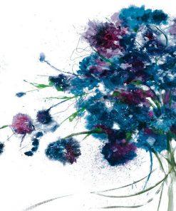 Bouquet con fiori di un blu vivace