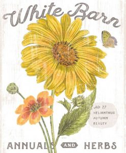 Composizione in stile botanico con fiore giallo