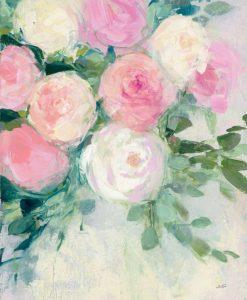 Delicato mazzo di fiori bianchi e rosa