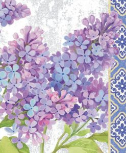 Dettagli di fiori di lillà con motivo decorativo