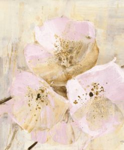 Dipinto con rami fioriti di fiori rosa
