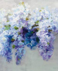 Fiori di glicine dalle sfumature azzurre e violette