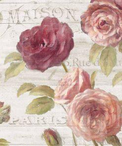 Dettaglio di una composizione rose rosse