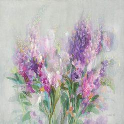 Acquerello di fiori di campo dalle tonalità viola