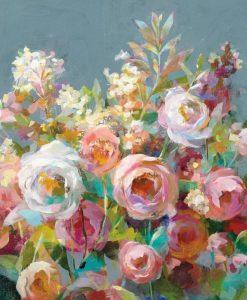 Bouquet vivace in stile vintage