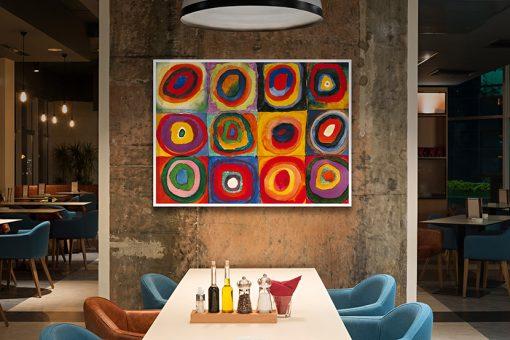 Ambientazione locale Dipinto con cerchi concentrici di vari colori