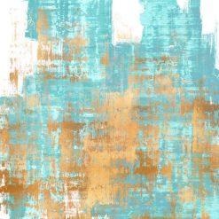 Dipinto astratto con sfumature di colore bianco e azzurro