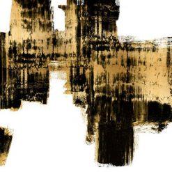 Dipinto astratto con sfumature di colore nero e oro