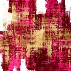 Dipinto astratto con sfumature di colore magenta e oro